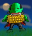 BIG corn...or little vampire? YOU DECIDE (actually it's big corn)