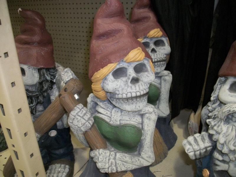 skeletal lawn gnome woman - Menards Halloween Decorations