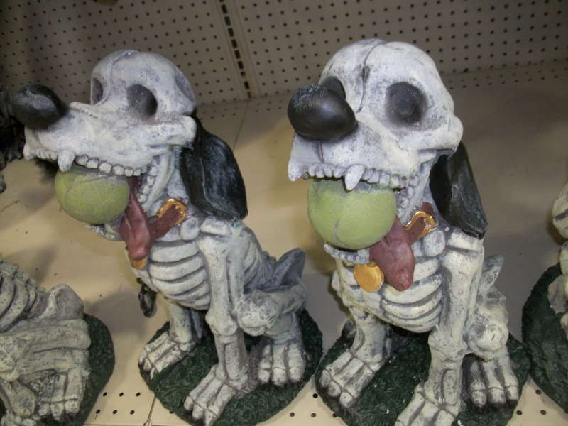 skeletal lawn dogs - Menards Halloween Decorations