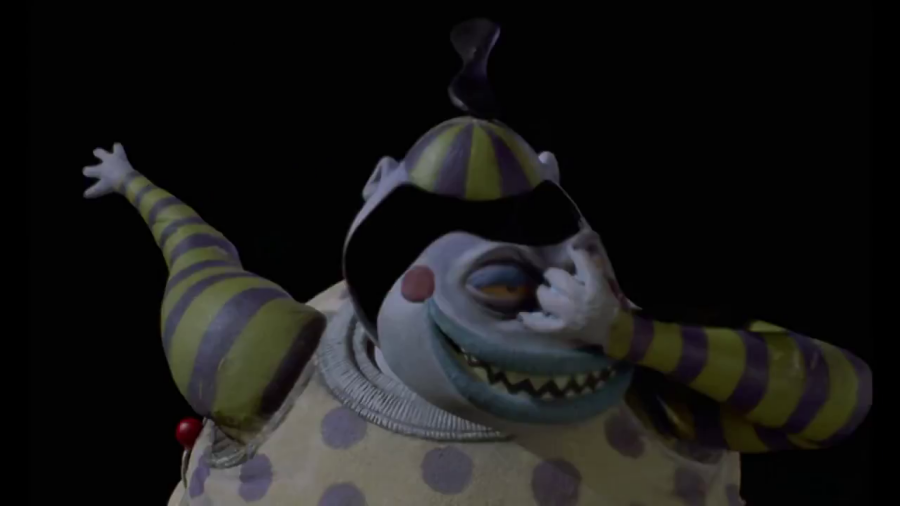 Nightmare Before Christmas Clown With A Tear Away Face.Boo Gleech