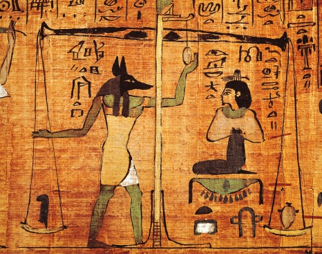 Book of the dead with hieroglyphics